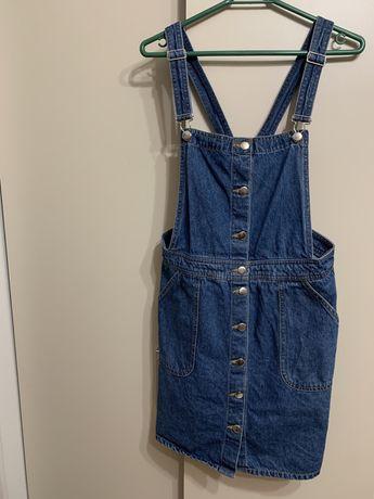 jeansowa sukienka - ogrodniczki roz. XL