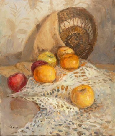 Anatoli Demenko. Martwa natura z jabłkami