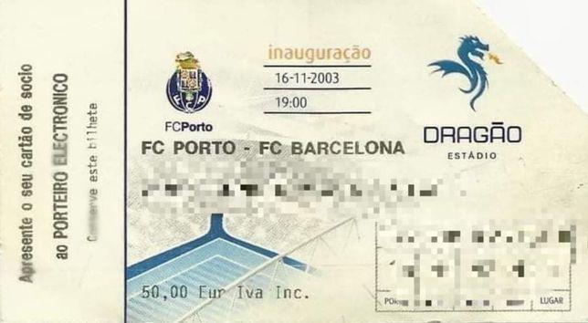 Bilhetes FCP da Inauguração do Estadio do Dragão