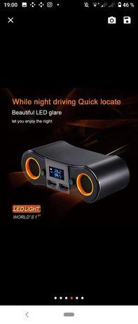 USB прикуриватель зарядное устройство в авто