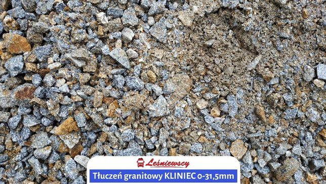 Tłuczeń granitowy KLINIEC 0-31,5mm pod utwardzenie-transport wywrotka