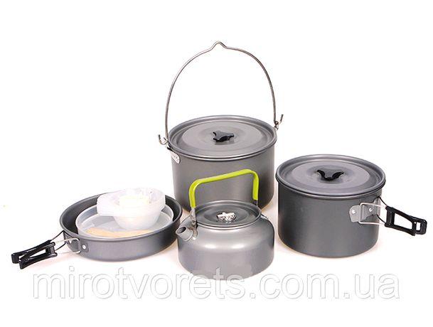Набор туристической алюминиевой посуды HALIN DS-700 3-5 человек