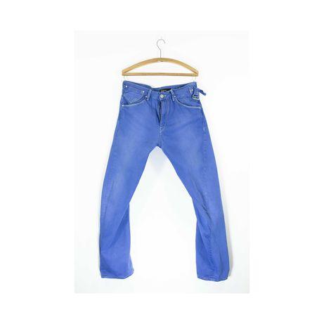 Kobaltowe spodnie Levi's Engineered W34 L 32 irregular  skręcane