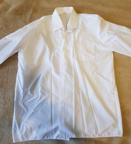 Koszula biała długi rękaw rozmiar 36/164