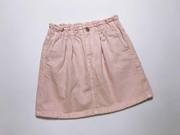 Stylowa dżinsowa spódnica róż ZARA 134 cm