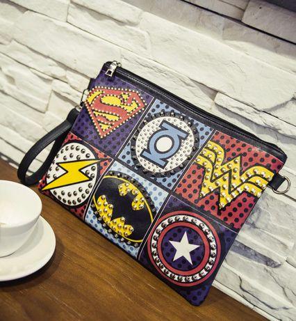 Mala clutch - Marvel Super Heroes - Novo.