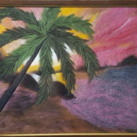 Картина шерстяная живопись