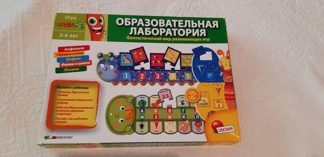 Пазл,Игра Образовательная Лаборатория(алфавит,цифры,формы,цвет,логика