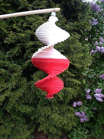 Wiatraczki ogrodowe, wiatraki, kręciołki, spirale, flaga Polski