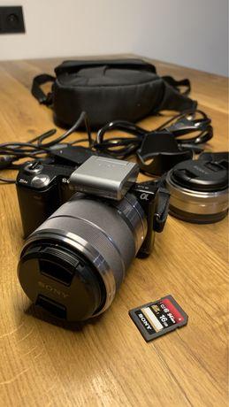 Aparat Sony Alpha nex-5n, dwa obiektywy