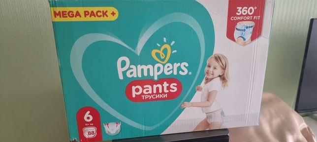 Pampers pants 6 памперсы трусики