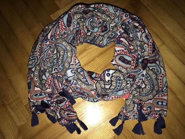 Altea итальянский дизайнерский большой шарф палантин, хлопок/шёлк!