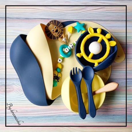 Силиконовая посуда,ниблер,слюнявчик,секционная тарелка,тарелка с крышк