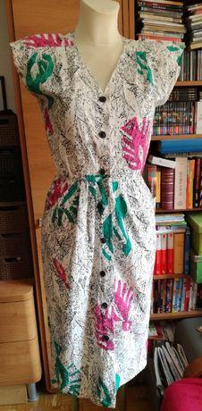 Zapinana sukienka, rozmiar S
