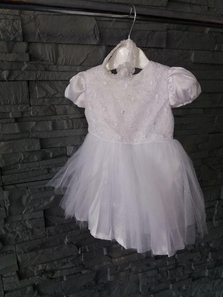 sukienka na chrzest w rozmiarze 68cm