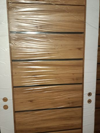 Drzwi wewnętrzne dąb bergon lewe 80
