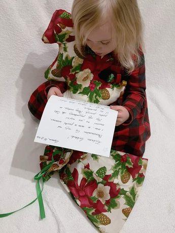 Zestaw Mikołajkowy list poduszka worek na prezenty