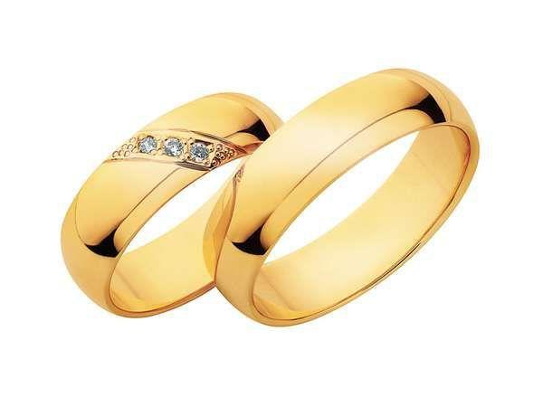 Obrączki złote z cyrkoniami diamentami szerokość od 4 do 7 mm