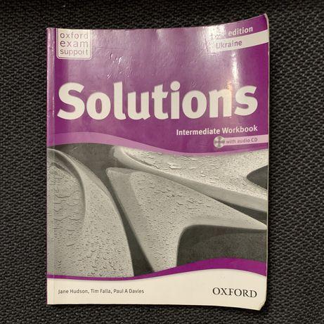 Продам книжку, зошит, додаток Solutions New Intermediate SB Pack