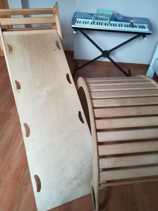 Bujak XXL drewniany, zjeżdżalnia, drabinka xxl, ściana wspinaczkowa Wo Białystok - image 1