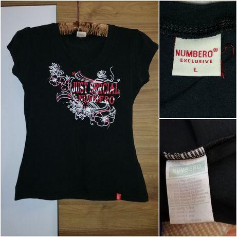 Чёрная футболка с принтом Numbero