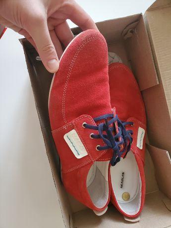 туфлі макасини червоні makas