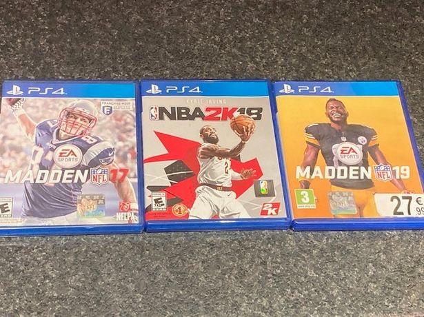 PS4 Madden 19, NBA 2k18, Madden 17