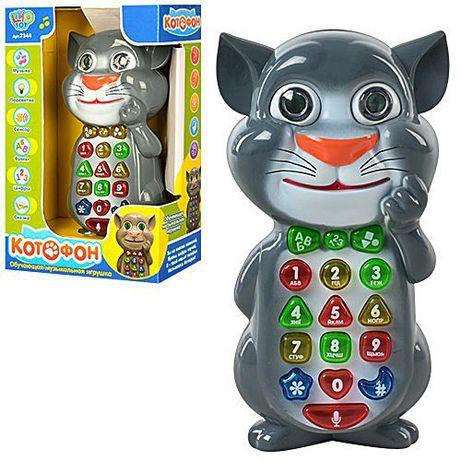 Котофон,говорящий кот том,интерактивный телефон котофон limo toy 7344