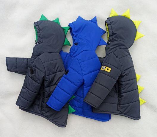 Куртка Динозаврик деми мальчику и девочке 98-116