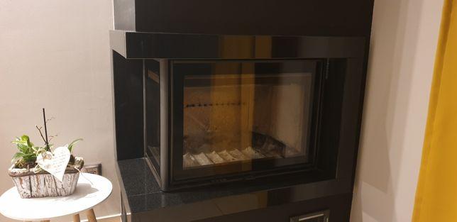 Wkład kominkowy Firmy Dovre 10 KW z boczną szybą, komplet przyłączy