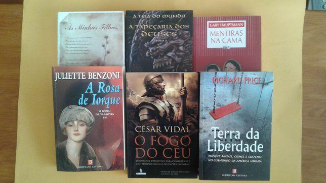 Livros: Terra da Liberdade, a rosa de Iorque, O fogo do Céu e outros