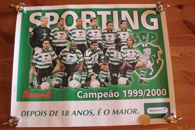 Poster Sporting Campeão 1999/2000 e Seleção Nacional