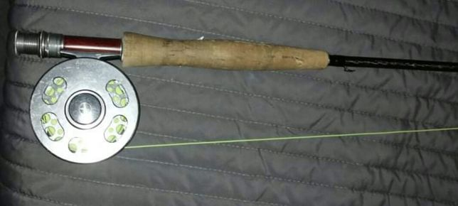 Wędka muchowa+kołowrotek konger