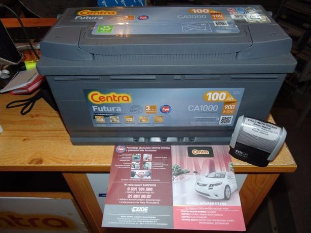 Akumulator Centra Futura CA1000 12V 100Ah 900A Krk Dowóz Montaż EA1000