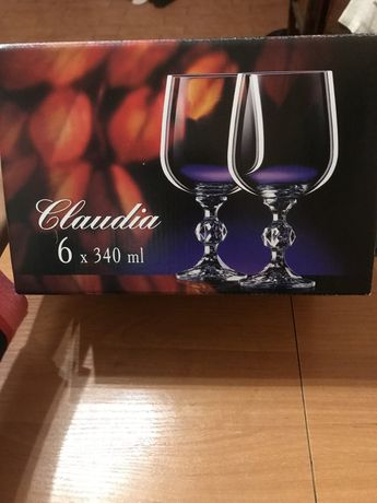 Набор бокалов bohemia 340 мл для вина новые