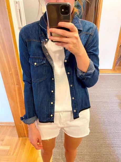 kurtka koszula jeansowa zara krótka 38 M 36 S