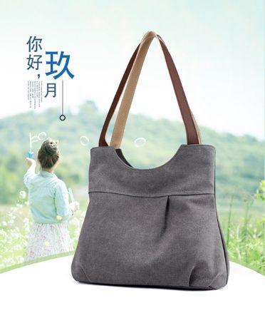 Новая женская повседневная холщовая сумка, через плечо