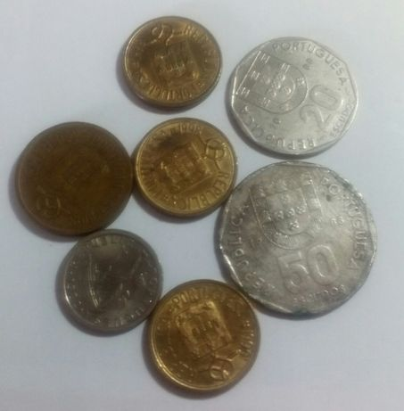 101 moedas escudos/centavos