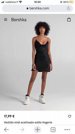 vestido curto preto