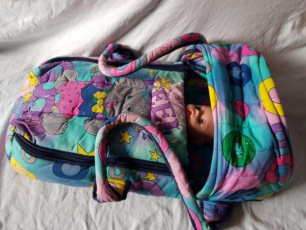 Nosidełko do przenoszenia niemowląt, twardy spód, zapinane z kapturem
