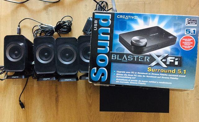 Głośniki 5.1 Creative Inspire T6160, Soundblaster X-FI 5.1