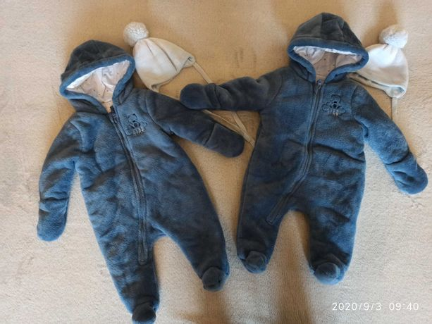 Kombinezony niemowlece smyk r. 62 dla blizniakow