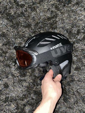 Kask narciarski z goglami UVEX 60-62 cm L/XL