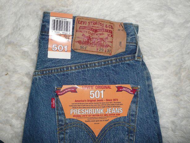 Levi's 501 z USA jeansy męskie nowe preshrunk