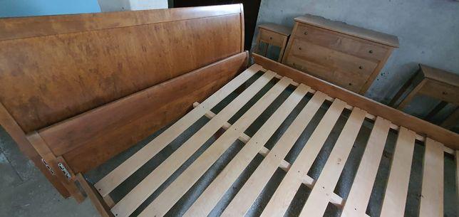 łóżko komoda i szafki drewniane komplet