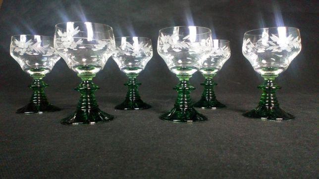 Stare kryształowe kieliszki antyk szkło wino