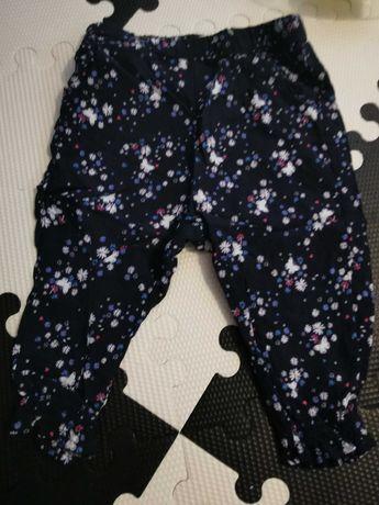 Cienkie letnie spodnie rozmiar 74