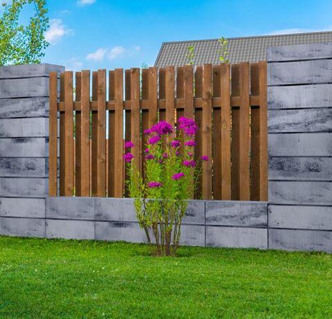 Ogrodzenie systemowe z bloczków, pustaki ogrodzeniowe-pustak 60x25x19
