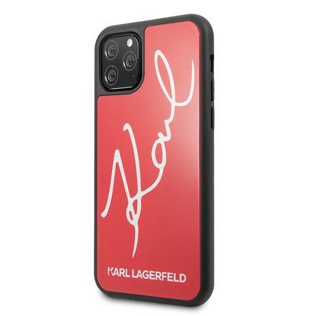 Oryginalne Etui KARL LAGERFELD - Signature Iphone 11 Pro Max Czerwony