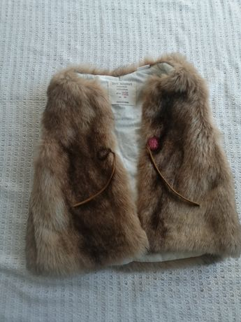 Zara kamizelka futrzana futerko bezrekawnik dla dziewczynki 86